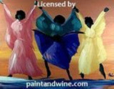"Oct 27, 2017, Fri, 7-9 pm, "" Lady Dancers"" - Wine & Paint Class in Atlanta / Sandy Springs"