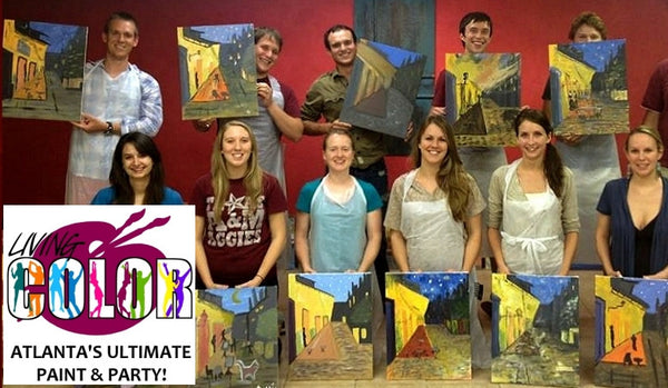 Aug 6, 2016, Sat, 6-8 pm,  LBR Night of Fun & Networking Pt 1 - Wine & Paint Class in Atlanta / Sandy Springs