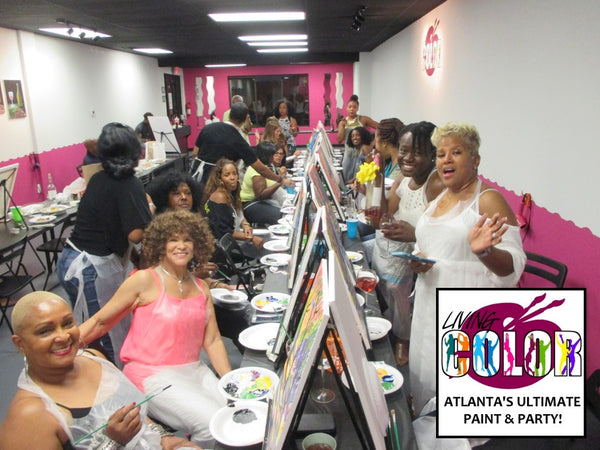 Sept 10, 2016, Sat, 7-10 pm, Living Color Paint 'n Sip Party - Wine & Paint Class in Atlanta / Sandy Springs