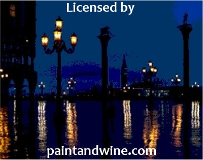 "Feb 18, 2018, Sun, 2-4 pm, ""Venice at Night"" Public Wine & Paint Class in Atlanta / Sandy Springs"