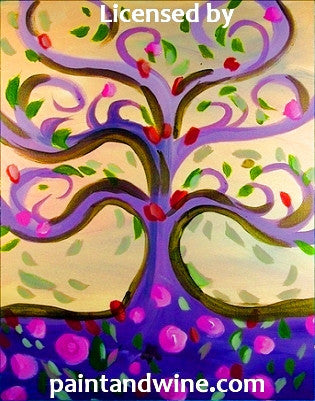"Jul 27, 2017, Thur, 7-9 pm, ""Tree of Life"" Public Wine & Paint Class in Atlanta / Sandy Springs"