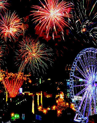 "Jul 1, 2016, Fri, 7-9 pm, DISCOUNT ""Atlanta Fireworks"" Public Wine & Paint Class in Atlanta / Sandy Springs"