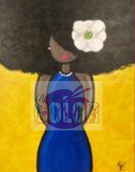 "Feb 3, 2018 Sat 6-8:00 pm, ""Lady Sings The Blues "" Public Wine & Paint Class in Atlanta / Sandy Springs"