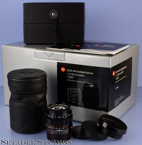 LEICA 11186 50MM SUMMICRON-M F2 ASPH BLACK PAINT LHSA SPECIAL EDITION LENS MINT!