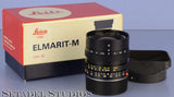LEICA LEITZ ELC 28MM ELMARIT-M F2.8 3RD VERSION BLACK M 11804 LENS +BOX +SHADE