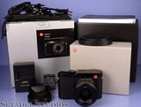 LEICA LEITZ Q 116 19000 24MP CMOS BLACK DIGITAL CAMERA +28MM F1.7 COMPLETE MINT
