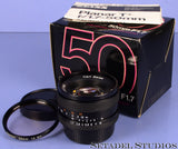 CONTAX ZEISS PLANAR 50MM F1.7 T* C/Y AEJ RTS LENS +BOX +CAP +1A MC FILTER MINT!