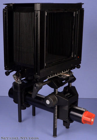 SINAR F 4X5 LARGE FORMAT STUDIOS RAIL CAMERA +BELLOWS SOLD AS PARTS