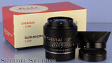 LEICA LEITZ 35MM SUMMICRON-R F2 1ST VER ELC 11227 2CAM BLACK R LENS +SHADE +BOX