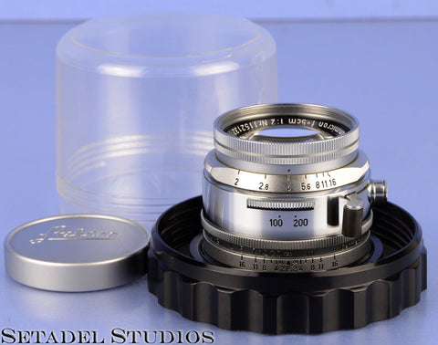 LEICA 50MM SUMMICRON F2 SOOIC COMPUR SHUTTER SM LENS RARE ONLY 58 MADE!