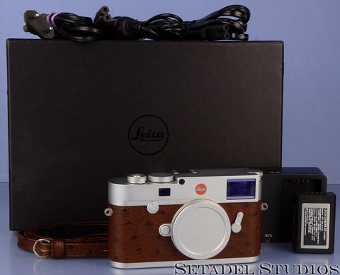 LEICA M10 24MP SILVER 20001 A LA CARTE CAMERA BROWN OSTRICH TRIM +STRAP +CASE