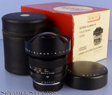 LEICA LEITZ 15MM SUPER-ELMAR-R F3.5 11213 3CAM R LENS +CAPS +CASE +BOX MINT