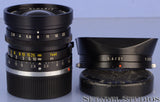 LEICA LEITZ 28MM ELMARIT F2.8 2ND VERSION BLACK M 11801 LENS +CAPS +12501 SHADE
