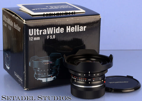 VOIGTLANDER ULTRA WIDE HELIAR II 12MM F5.6 MKII LEICA M LENS +BOX +CAPS CLEAN!