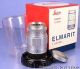 LEICA LEITZ 90MM ELMARIT F2.8 M 11029 ELRIT CHROME M LENS +BOX +CAP CLEAN NICE