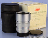 LEICA LEITZ 11137 90MM SUMMICRON-M F2 SILVER CHROME BRASS BODY M LENS +BOX. MINT