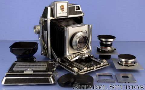 LINHOF SUPER TECHNIKA III 23 NORMAL KIT +65/105/180MM LENSES +6X9 ROLLEX BACK
