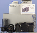 HASSELBLAD XPAN 35mm FILM PANORAMIC CAMERA OUTFIT +45MM F4 LENS +SHADE +BOX NICE