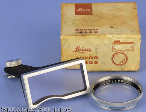 LEICA LEITZ IIIG 50MM ADVOO 16503 CLOSE UP FOCUSING EYES ATTACHMENT +BOX +LENS