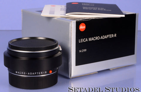 LEICA LEITZ 14299 MACRO-ADAPTER-R ROM CAMERA LENS ADAPTER +BOX +PAPERS MINT!