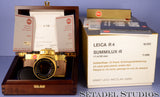 LEICA LEITZ R4 24KT GOLD CAMERA OUTFIT +50MM SUMMILUX-R F1.4 LENS +BOX NEW! RARE