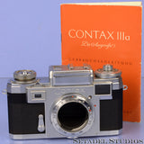 CONTAX IIIA BLACK DIAL CHROME RANGEFINDER CAMERA BODY +MANUAL CLEAN NICE!
