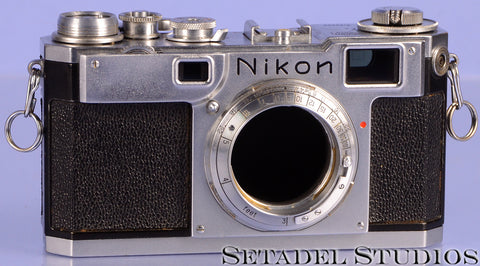 Nikon S2 Chrome Vintage Rangefinder Camera Body