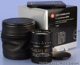 LEICA 50MM SUMMILUX-M F1.4 BLACK ASPH 11891 M LENS +BOX +CASE +CAPS +PAPERS MINT