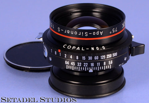 RODENSTOCK APO-SIRONAR-S 135MM F5.6 4X5 LARGE FORMAT LENS COPAL 0 SHUTTER + CAPS