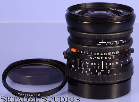 HASSELBLAD ZEISS DISTAGON 50MM F4 FLE CFi T* BLACK LENS W/ CAPS +FILTER NICE!