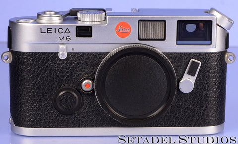 LEICA LEITZ M6 10414 CLASSIC CHROME RANGEFINDER CAMERA +CAP VERY CLEAN! LATE #