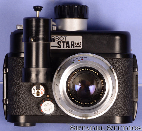 ROBOT STAR50 WIND UP CLOCKWORK CAMERA + SCHNEIDER 40MM XENON F1.9 LENS
