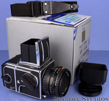 HASSELBLAD 503CW MILLENIUM GOLD TRIM OUTFIT +80MM F2.8 CFE +A12 BACK +BOX +SHADE