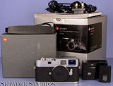 LEICA LEITZ M9-P M9P 18.5MP SILVER CHROME CAMERA BODY W/ BOX UPGRADED SENSOR!