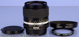 NIKON 28MM NIKKOR F2 AIS AI-S BLACK LENS +L37c FILTER +CAPS +SHADE CLEAN NICE
