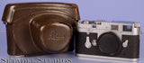 LEICA LEITZ M3 SN.701633 EARLY 1954 DOUBLE STROKE CHROME CAMERA +CASE 10150 NICE
