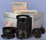 MAMIYA 7 7II N 150MM F4.5 L RANGEFINDER LENS +BOX +SHADE +CAPS +FV702 FINDER