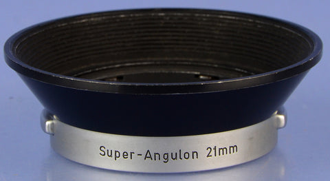 LEICA LEITZ 21MM SUPER ANGULON F4 IWKOO 12502 LENS SHADE RARE HOOD GERMAN