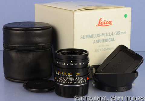 LEICA LEITZ 35MM SUMMILUX-M F1.4 AA DOUBLE ASPHERICAL 11873 LENS +BOX COMPLETE!