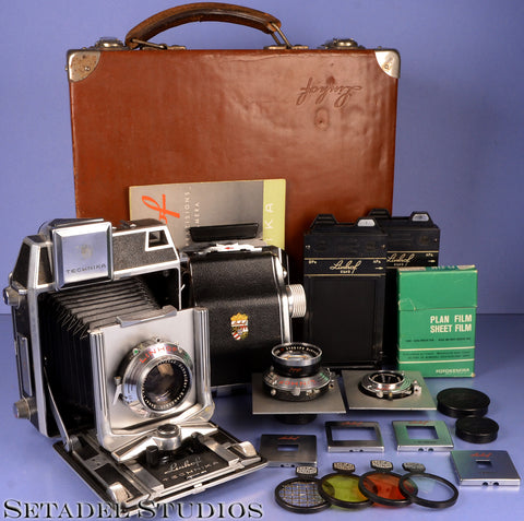 LINHOF TECHNIKA IV 2X3 OUTFIT +65/105/180MM LENSES +CASE +FILTERS +FILM HOLDERS