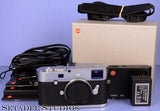 LEICA LEITZ M-P TYP(240) 24MP CHROME DIGITAL CAMERA BODY +CABLES +STRAP. NICE!