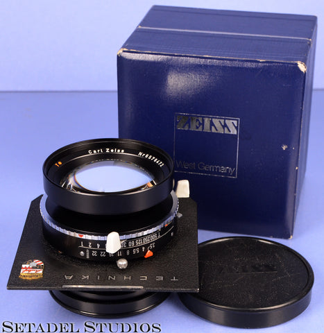 LINHOF ZEISS PLANAR 135MM F3.5 67MM T* 2nd VERSION 4X5 LENS +BOX +CAP MINT! RARE