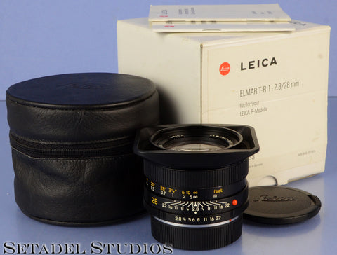 LEICA LEITZ 28MM ELMARIT-R F2.8 VERSION 2 ROM 11333 R LENS +CAPS +BOX MINT