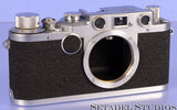 LEICA LEITZ IIC SHARKSKIN CHROME RANGEFINDER SCREW MOUNT SM CAMERA BODY