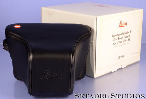LEICA LEITZ 14505 EVER READY CASE M BLACK LEATHER CASE W/ BOX MINT