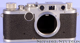 Leica Leitz IIF Black Dial Chrome Rangefinder Camera Body Early Serial As Is