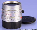 LEICA LEITZ 28MM SUMMICRON-M F2 CHROME 6BIT 11661 ASPH M LENS +CAPS MINT RARE!