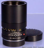 LEICA LEITZ 135MM ELMARIT-R F2.8 R 2CAM 11211 2 VERSION BLACK R LENS +CAPS NICE!