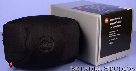 LEICA LEITZ 14867 BLACK NEOPRENE CASE M8 / M9 / M9-P / M(240) CAMERA CASE +BOX