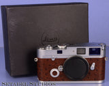 LEICA LEITZ MP 0.72 A LA CARTE CHROME CAMERA BODY +BROWN OSTRICH LEATHER +BOX RARE!